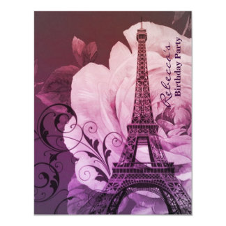 festa de aniversário floral do vintage da torre