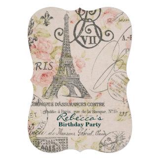festa de aniversário floral do vintage da torre Ei