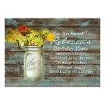 festa de aniversário floral do vintage do frasco d convites