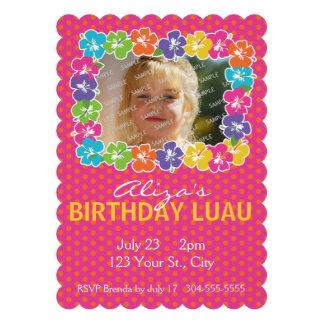 Festa de aniversário havaiana de Luau