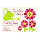 Festa de aniversário - jardim & lata molhando convite 12.7 x 17.78cm