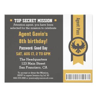 Festa de aniversário legal do agente secreto