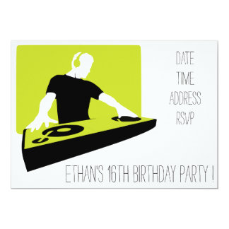 Festa de aniversário legal funky dos adolescentes convite 12.7 x 17.78cm