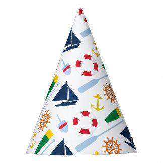 Festa de aniversário náutica formal chapéu de festa