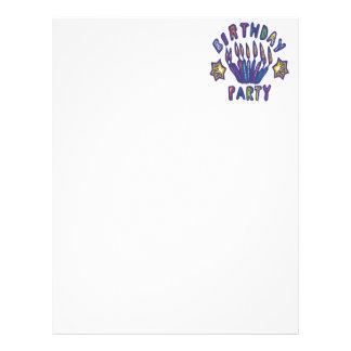 Festa de aniversário papeis de carta personalizados