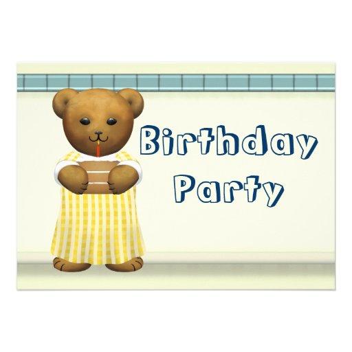 Festa de aniversário para ursos de ursinho convites personalizados