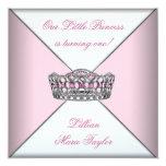Festa de aniversário pequena da princesa Primeiro Convite Quadrado 13.35 X 13.35cm