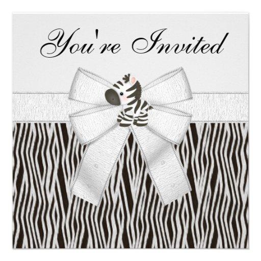 Festa de aniversário preta & branca do impressão convites personalizado