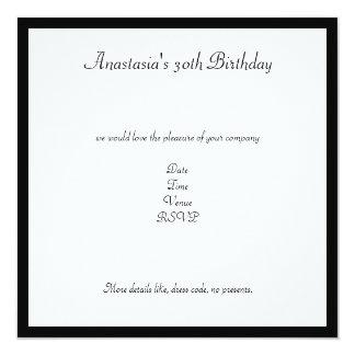 Festa de aniversário retro preta & branca dos convites personalizado