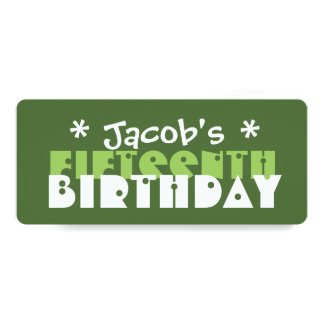Festa de aniversário T06V verde do costume do Convite Personalizados