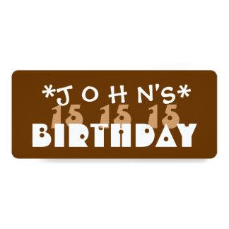 Festa de aniversário T06Z do costume do Convites Personalizado