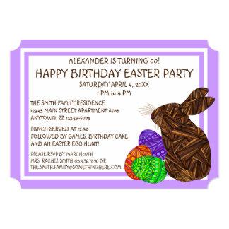 Festa de aniversário temático da páscoa do convites personalizado