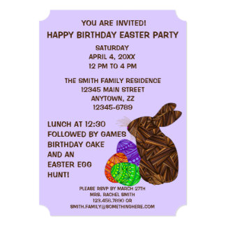 Festa de aniversário temático da páscoa do convites