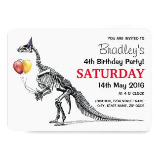 Festa de aniversário temático do dinossauro convite 12.7 x 17.78cm