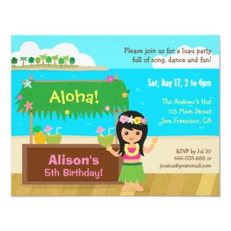 Festa de aniversário temático havaiana de Luau da