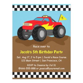 Festa de aniversário vermelha do monster truck