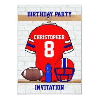 Festa de aniversário vermelha personalizada do convite personalizado