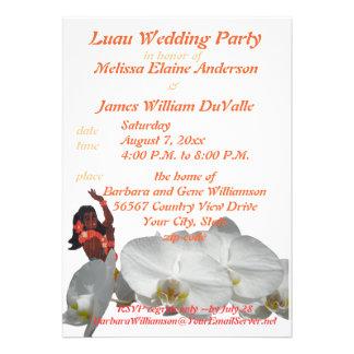 Festa de casamento de Luau para casais Convites