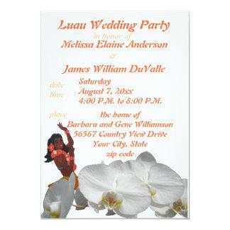 Festa de casamento de Luau para o convite dos