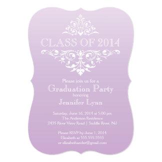 Festa de formatura elegante formal do Flourish Convite 12.7 X 17.78cm
