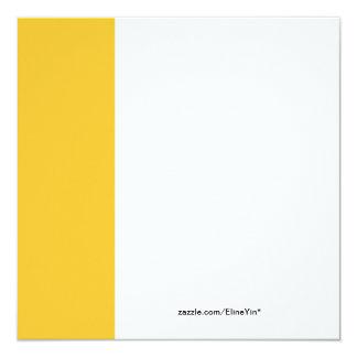 festa de Natal amarela da flor da tulipa Convite Quadrado 13.35 X 13.35cm