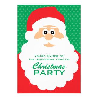 Festa de Natal bonito do papai noel dos desenhos a Convite Personalizado