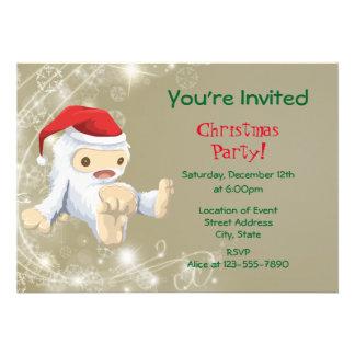 Festa de Natal branca do brinquedo da criatura da Convite 12.27 X 17.78cm