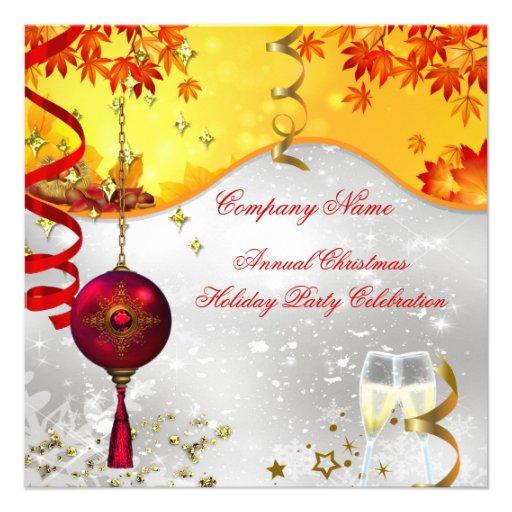 Festa de Natal Champagne do feriado Convite