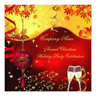 Festa de Natal Champagne do feriado Convite Quadrado 13.35 X 13.35cm