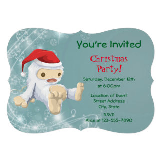 Festa de Natal com uma boneca do monstro da neve Convite 12.27 X 17.78cm