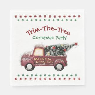 Festa de Natal da Guarnição--Árvore - guardanapo
