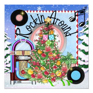 Festa de Natal de balanço - SRF Convite Personalizado