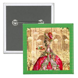 Festa de Natal de Marie Antoinette em Versalhes Bóton Quadrado 5.08cm