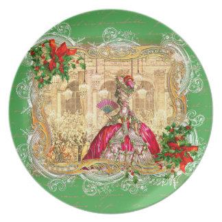 Festa de Natal de Marie Antoinette em Versalhes Prato