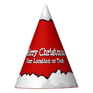 Festa de Natal do chapéu do papai noel seu texto