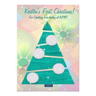 Festa de Natal do FERIADO Pastel do Natal ?a Convite 12.7 X 17.78cm
