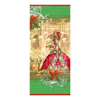 Festa de Natal do marcador de Marie Antoinette 10.16 X 22.86cm Panfleto