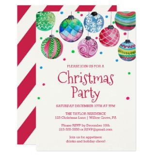 Festa de Natal do ornamento do feriado Convite 12.7 X 17.78cm