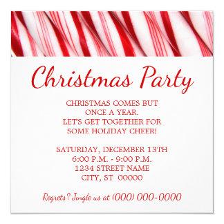 Festa de Natal dos bastões de doces Convite Quadrado 13.35 X 13.35cm