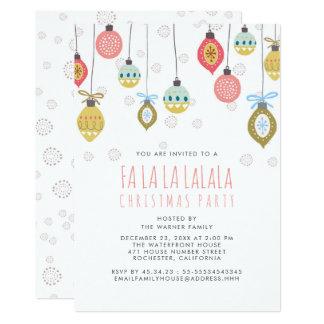 Festa de Natal engraçada de Falalala Convite 12.7 X 17.78cm