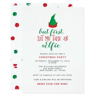 Festa de Natal engraçada do duende Convite 12.7 X 17.78cm