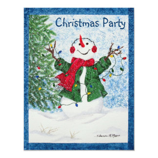 Festa de Natal feliz do boneco de neve - convite
