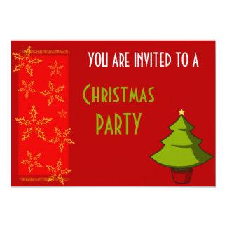 Festa de Natal festiva Convite 12.7 X 17.78cm
