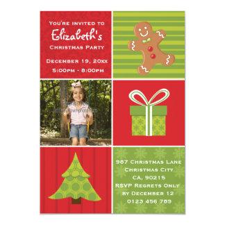 Festa de Natal festiva da foto bonito dos miúdos Convite