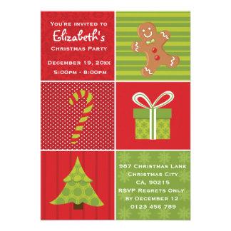 Festa de Natal festiva dos miúdos bonitos Convite Personalizados