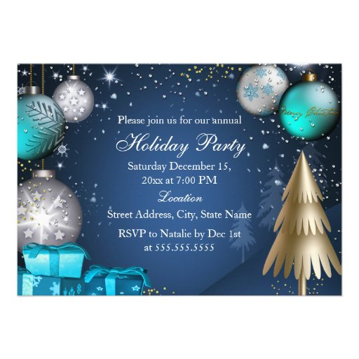 Festa de Natal incorporada do escritório do Convites Personalizados