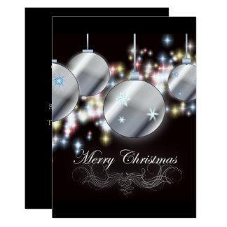 festa de Natal incorporada simples do ornamento da Convite 12.7 X 17.78cm