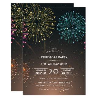 Festa de Natal moderna da tipografia dos Convite 12.7 X 17.78cm