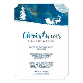 Festa de Natal nevado de Borealis da Aurora do Convite 12.7 X 17.78cm