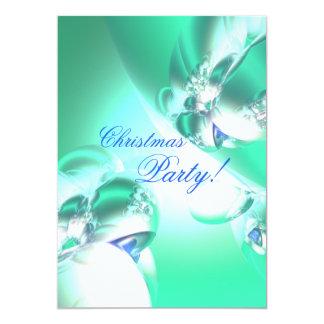 Festa de Natal verde do cetim do feriado Convite 12.7 X 17.78cm